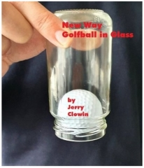 New Way Golf Ball in Glass by Jerry Clowin